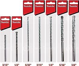 Makita 7 Piece - Complete Concrete Drill Bit Set For Hammer Drills - Precise Drilling For Masonry & Concrete - Tungsten Carbide Bits