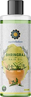 AYURVEDASHREE Bhringraj Hair Oil 6.76 fl oz, with Bhringraj Oil, Amla Extract, Kalonji Oil, Seasme Oil, Avacado Oil, Walnu...