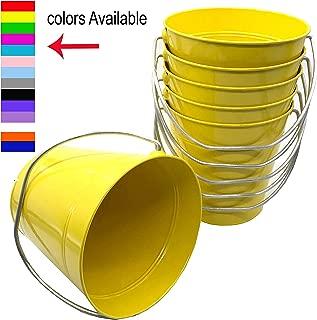 Italia 6-Pack Metal Bucket 3.7 Quart color Yellow Size 7.5 x 7.5