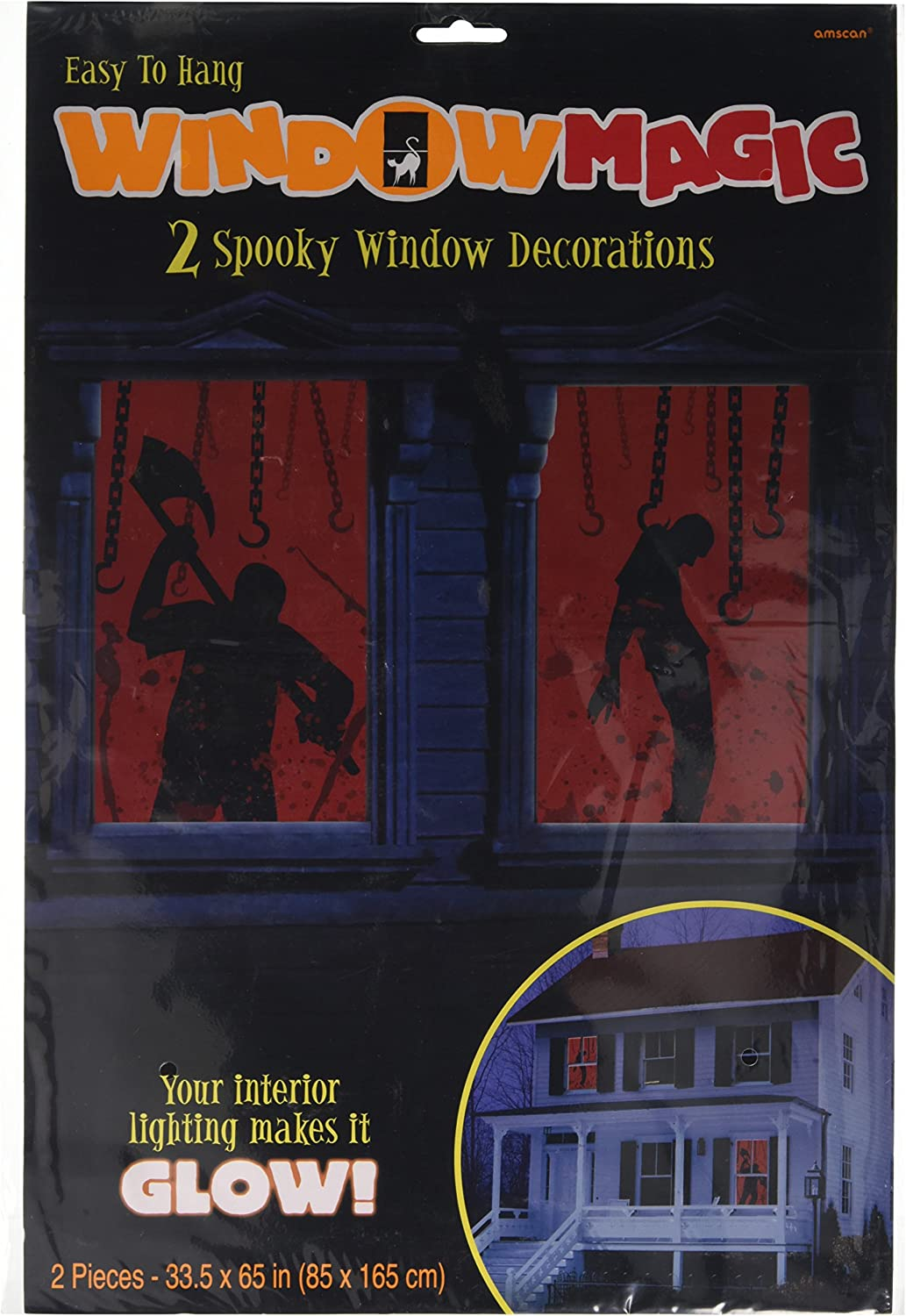 Amscan Bloody Window Silhouette Decoration