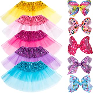 G.C 24 PCS Princess Dress up Clothes for Little Girls Gift Tutu Skirts Birthday Party Favros for Girls