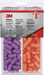 3M 92059-80025T Disposable Earplugs, 80-Pair