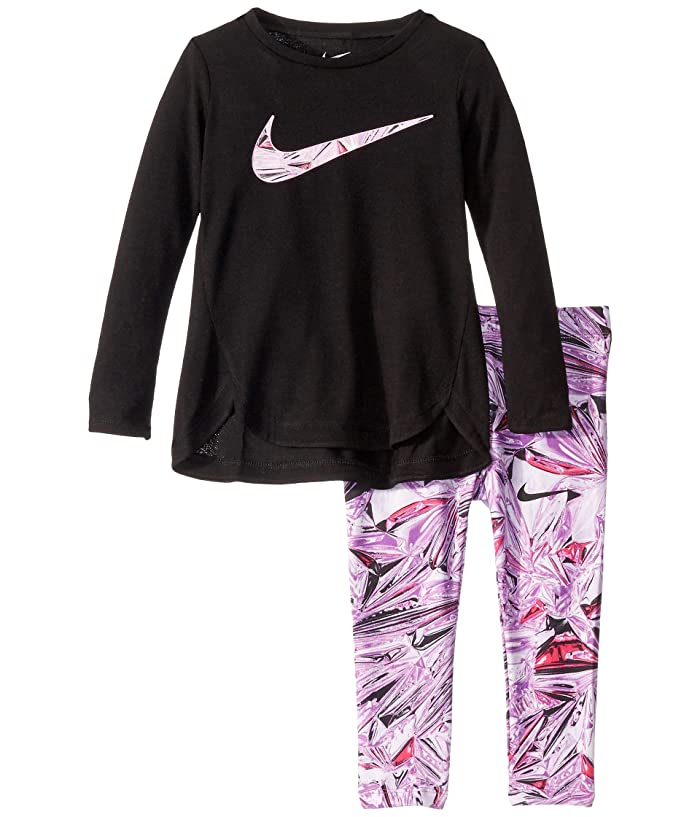 Nike Kids  Dri-FITtm Sport Essentials Long Sleeve Tunic and Leggings Two-Piece Set (Toddler) (Vivid Purple) Girls Active Sets