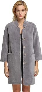 fur story Women's Lamb Shearing Fur Coat Thick Warm Winter Solid Winter Coat