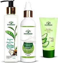 INWOOD ORGANICS Coconut & Green Tea Body Lotion - 200 ml, Skin Whitening Hand & Body Lotion - 100 ml with Pure Aloe Vera Gel - 60 ml, 360 ml (Pack of 3)