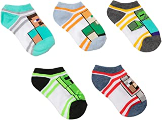 Minecraft Little Boys Character 5-Pack No-Show Socks