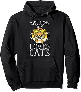 Juste Une Fille Qui Aime Les Chats Chaton Amoureux Des Chats Sweat à Capuche