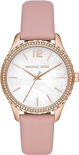 Michael Kors Reloj Analógico para Mujer de Cuarzo con Correa en Piel Genuina MK2909