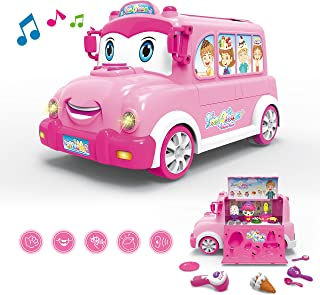 PEAINBOX Musical Kids Toys - Pretend Play Ice Cream Food Truck with Musics,Lights and Play Salesman - Infant Early Learning Educational Toddler Baby Toys for Boys and Girls