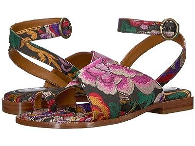 Etro Flower Jacquard Sandal (Multi) Women