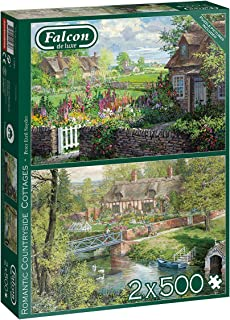 Jumbo, Falcon de Luxe - Romantic Countryside Cottages, Jigsaw Puzzles for Adults, 2 x 500 Piece