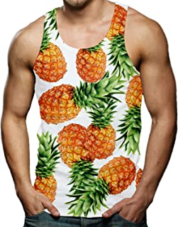 4adcb3518b338 RAISEVERN Men s Funny Tank Tops 3D Printed Cool Graphic Sleeveless Cool Gym  Workout T-shirt
