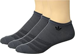 adidas Originals - Originals Terry 3-Stripe No Show Sock 3-Pack