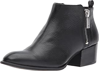 Kenneth Cole New York Women's Addy Western Bootie Double Zip Low Heel Leather Ankle