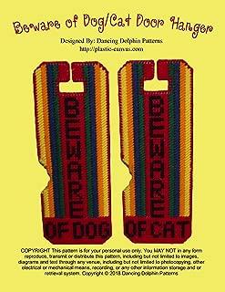 Beware of Dog Door Hanger: Plastic Canvas Pattern