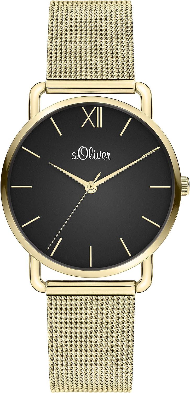 s.Oliver Reloj para Mujer de Cuarzo analógico con Correa en Acero Inoxidable SO-4151-MQ