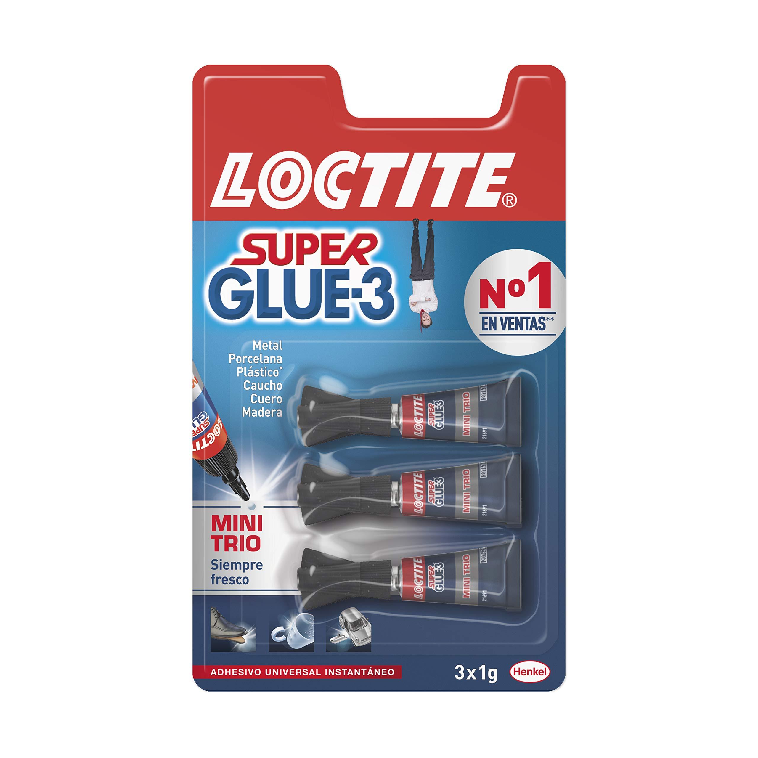 Loctite Super Glue-3 Original Mini Trio, pegamento universal con ...