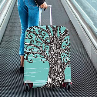 Suitcase Protectors Old graphic tree Print on Dust Proof Luggage Covers Fit 18-28 Inch Luggage