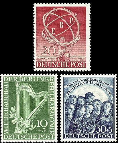Briefmarken Berlin 1950, Mi.Nr. 71-73, kompletter Jahrgang, Postfrisch (Mi. 215,00)