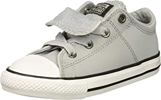 Converse Kids' Chuck Taylor All Star Glitter Leather Maddie Slip on Low Top Sneaker