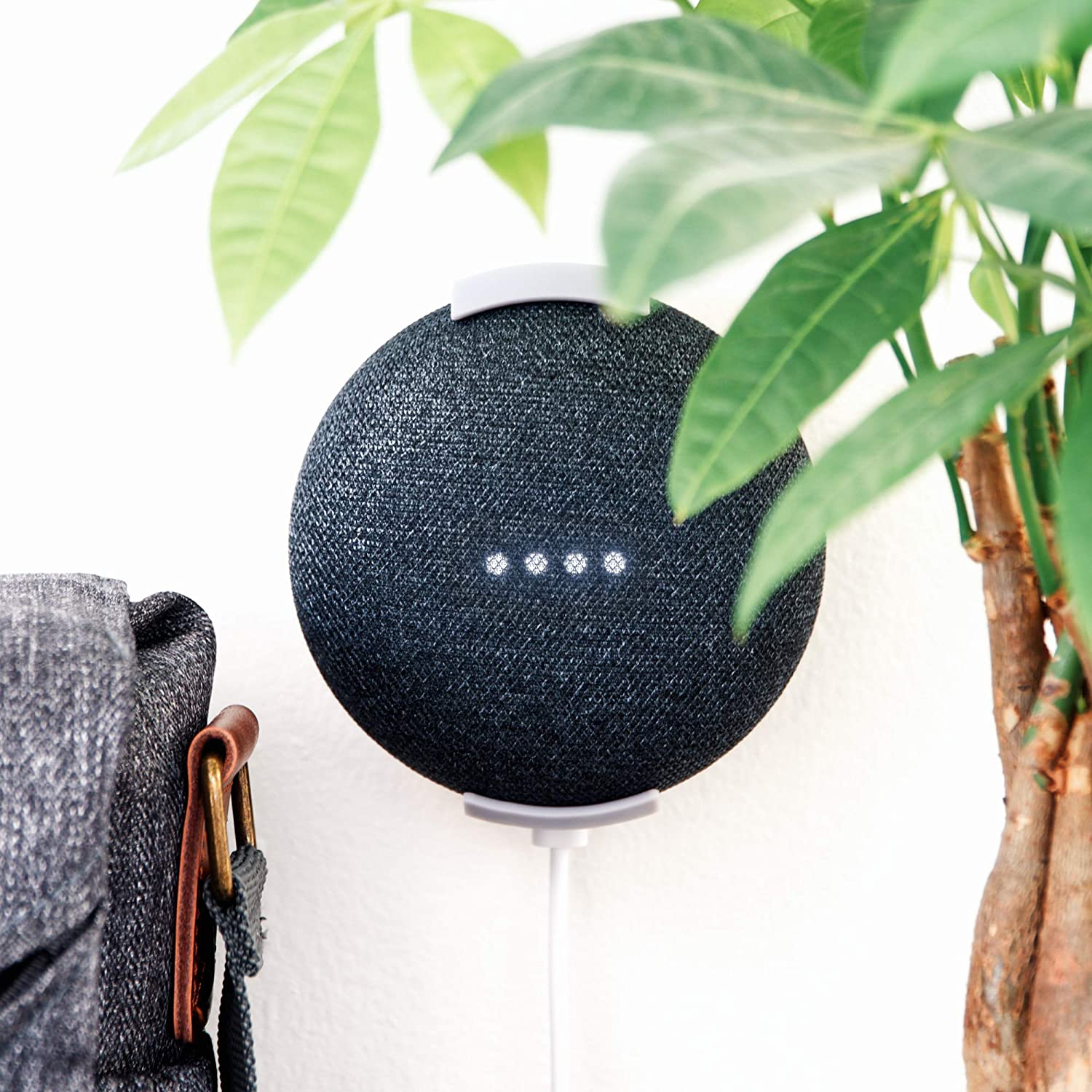 Strong Grip Google Home Mini Wall & Ceiling Mount, Damage Free, Screwless & Sturdy. 100% Designed & Made in The USA, Fits gen 1 Google Home & gen 2 nest Mini.…