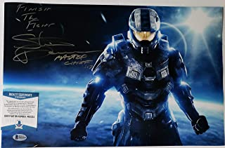 Steve Downes autographed 11x17 Photograph Microsoft XBox Halo Master Chief Voice Actor with Insc.