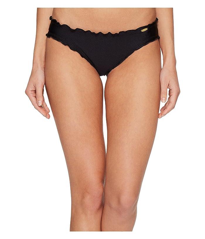Luli Fama Cosita Buena Full Ruched Back Bikini Bottom (Black) Women