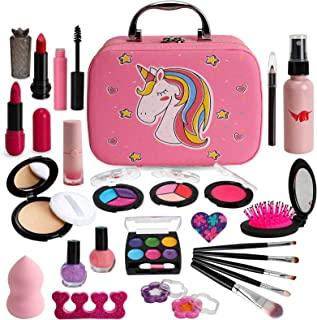 Flybay Kids Makeup Kit for Girls, Real Makeup Set, Washable Makeup Kit Toys for Little Girls Child Pretend Play Makeup for...
