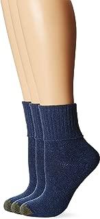 Gold Toe Women's 3-Pack Bermuda Turn Cuff Sock
