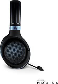 Audeze Mobius Premium 3D Gaming Headset with Surround Sound, Head Tracking and Bluetooth. Over-Ear Gaming Headphones Blue