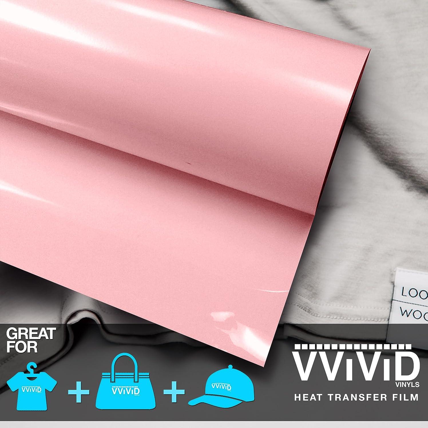 VViViD Light Pink Heavy-Duty Iron-on Heat Transfer Vinyl Film (12