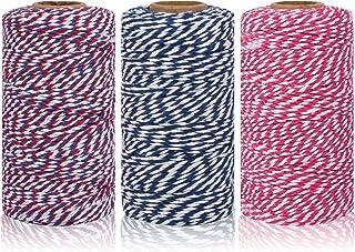 Maosifang Katoenen touw koord koord 2 mm bakkers snoeptouw lint touw voor cadeau inpakkunst ambachten kerstfeest decoratie...