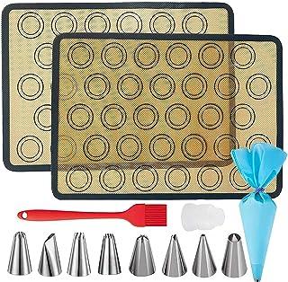 Kit de tapis de cuisson en silicone Macaron, tapis de cuisson en silicone haute température réutilisable pour la sécurité ...