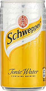 Schweppes Tonic Water Mini Cans, 180 ml (Pack of 24)