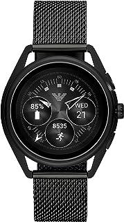 Emporio Armani Men's Smartwatch 2 Touchscreen Stainless Steel Mesh Smartwatch, Black-ART5019
