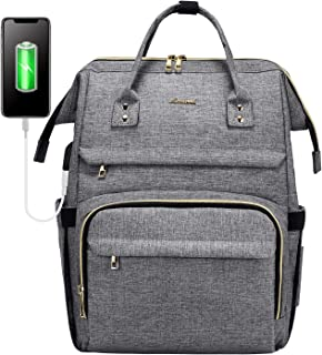 Sac à Dos Femme, LOVEVOOK Imperméable Sac a Dos PC Portable 15,6 Pouces, élégant Sac à Dos pour Ordinateur avec Port de Ch...