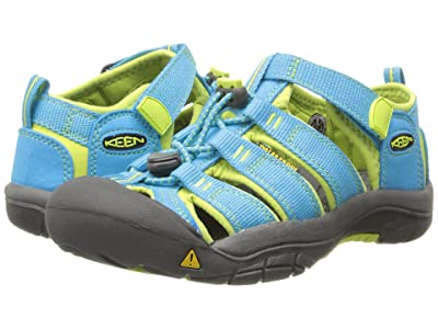 Keen Kids Newport H2 (Little Kid/Big Kid) (Hawaiian Blue/Green Glow) Kids Shoes
