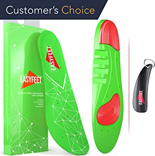 Plantar Fasciitis Arch Support Shoe Inserts Women & Men – Insoles For Men & Women- Orthotics Inserts For Flat Feet Foot & High Arch - Athletic Running Insoles Men - Work boots Insoles For Men green
