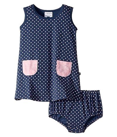 Toobydoo Pocket Play Dress (Infant/Toddler) (Polka Dot Print) Girl