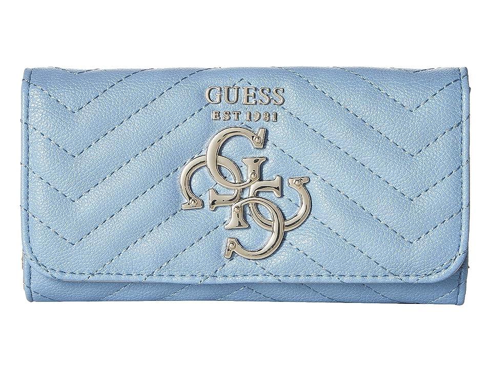 GUESS Violet SLG Slim Clutch (Sky) Wallet Handbags, Blue