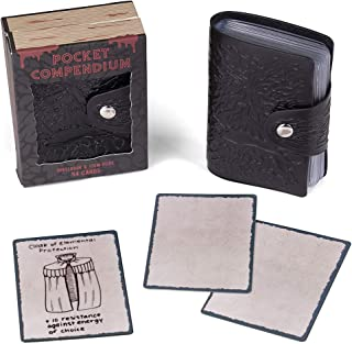 Pocket Compendium: Tome of Corruption   Customizable RPG Item, Spellbook, & Reference Card Holder   Tabletop Fantasy Game Beginner Accessory   Includes 54 Custom Poker-Size Playing Cards