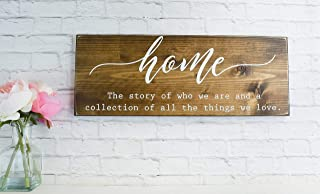 Dark Walnut Home Definition Sign A Collection of Who We Are Family Farmhouse Wooden Quote Wall Decor