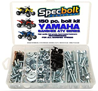 150pc Specbolt Yamaha Banshee Bolt Kit for Maintenance & Restoration OEM Spec Fasteners ATV Quad