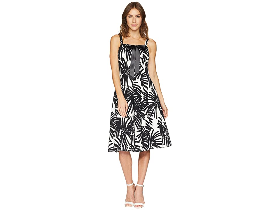 Taylor Lace-Up Bodice Fit and Flare Dress (Black/Ivory) Women