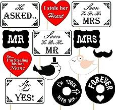 SYGA Pre Wedding Party Photo Booth Props, Multi Colour (Set of 13)