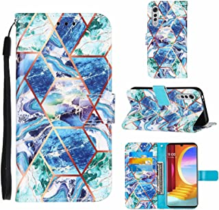 TTNAO kompatibel med LG Velvet 2 Pro fodral plånbok skal magnetisk stängning stativ kortplats skydd marmor mönster stötsäk...