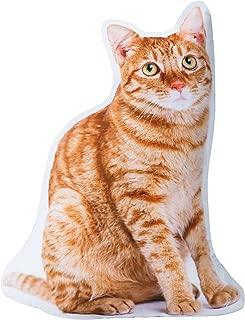 The Paragon Cat Shaped Pillow - Tabby 3-D Stuffed Cushion