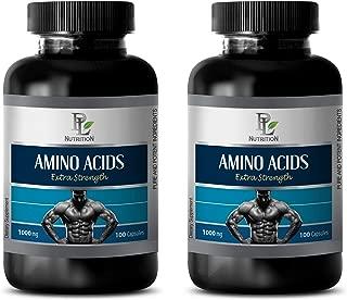Bodybuilding Supplements for Mass - Amino ACIDS Extra Strength 1000MG - l-arginine Amino Acid - 2 Bottles 200 Capsules