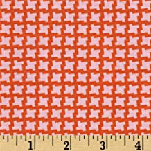 Devon Check Persimmon from the Up Parasol collection by Heather Bailey for FreeSpirit Fabrics - Red Pink (Half yard)