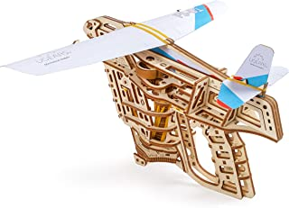 Ugears Flight Starter, Paper Airplane, Portable Hand Catapult, Mechanical Wooden 3D Model